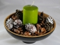 Mobile Preview: 5 Deko-Zapfen: Natur/ Glitzer